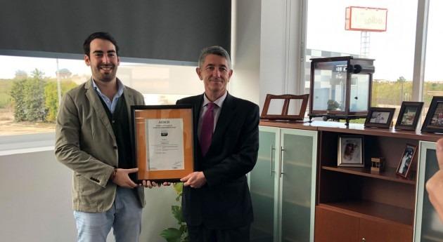 J. Huesa Water Technology recibe AENOR certificación conforme norma IQNet SR 10 RS