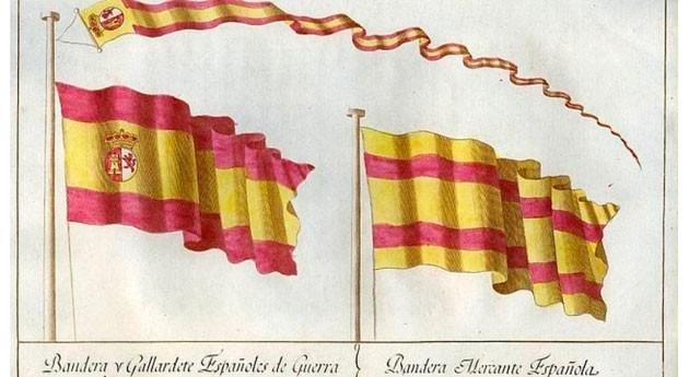 España agua: bandera exportar