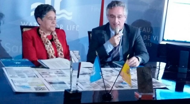 Joaquín Olona asiste despedida oficina ONU decenio agua