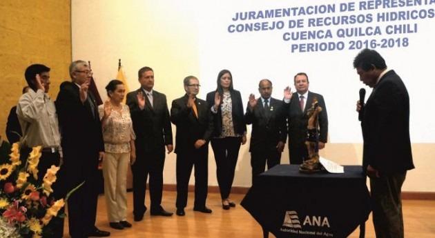 Juramentan integrantes Consejo Recursos Hídricos Cuenca Quilca-Chili