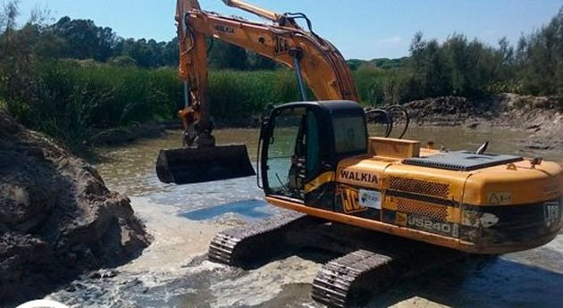 Gobierno andaluz actúa Laguna Mujer evitar colmatación