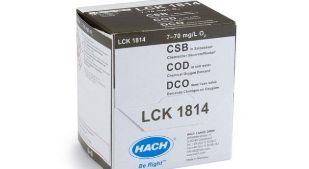 Nueva cubeta test LCK1814 concentraciones bajas DQO muestras sal y agua mar