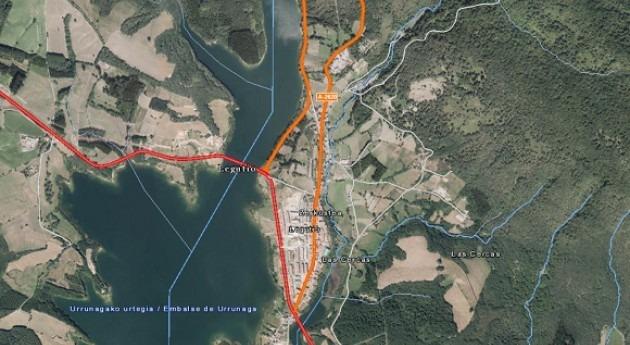 URA comienza obras mejorar red saneamiento Legutio 28 mayo