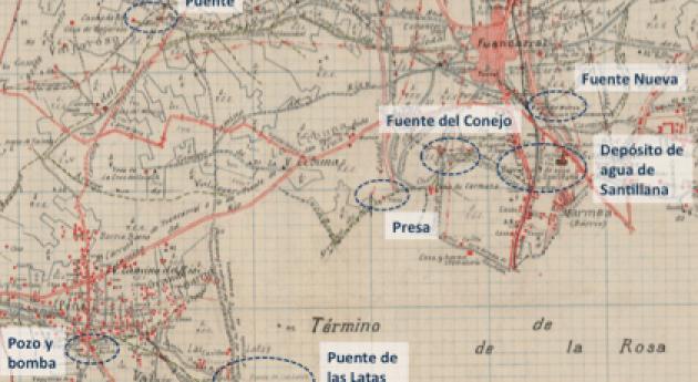 Utilidad mapas antiguos obtención información recursos hídricos