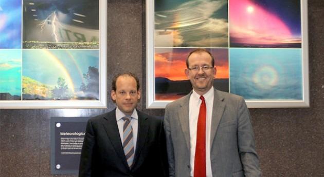 David Korenfeld, director de Conagua, y Jim Hurrel, director de NCAR