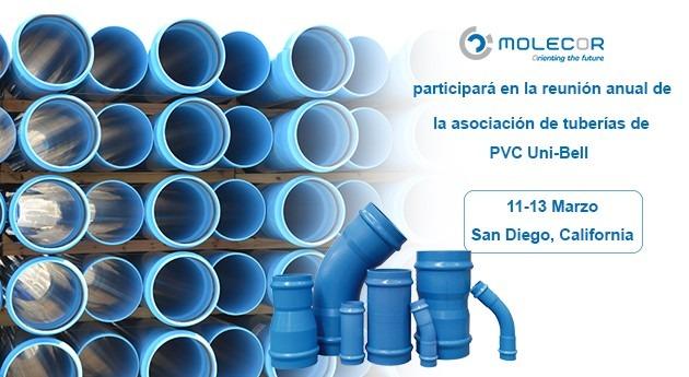 Molecor participará 47 reunión anual Asociación Tuberías PVC Uni-Bell