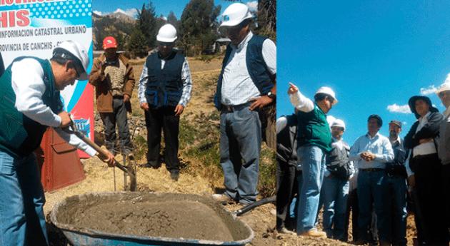 Autoridad Nacional Agua coloca hitos que delimitan faja marginal río Tintaya