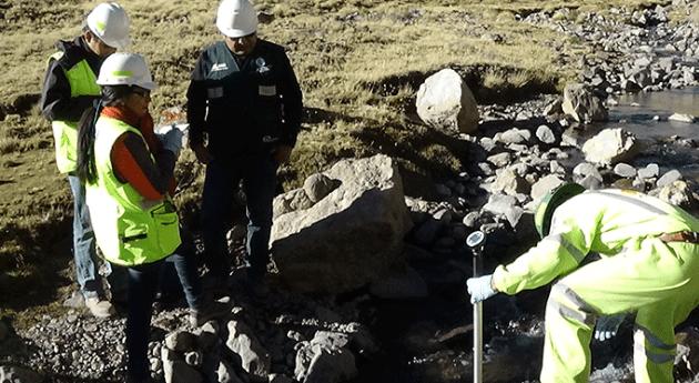ANA inspecciona vertimiento aguas residuales industriales tratadas proyecto Tambomayo
