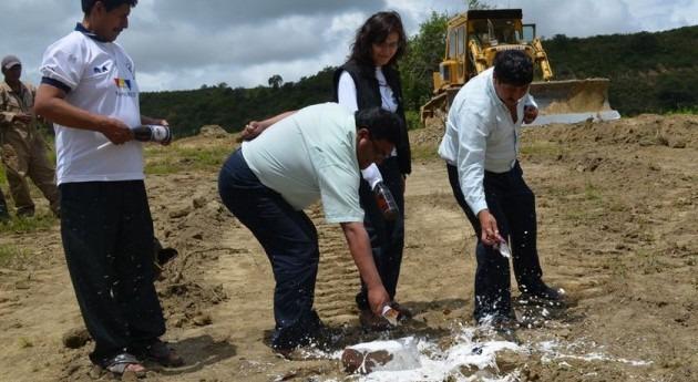 Bolivia inicia obras riego municipio Aiquile, Cochabamba