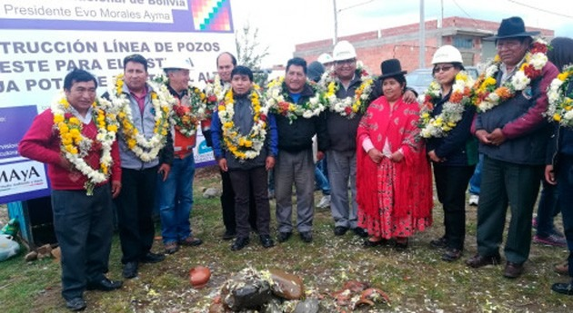 Gobierno Bolivia inicia construcción 8 pozos agua Alto