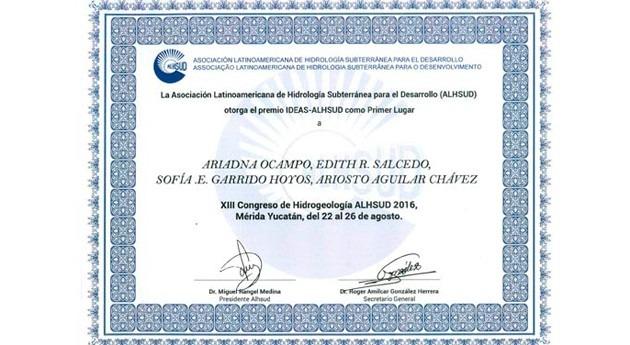 Alumnos e investigadores Posgrado IMTA obtienen Premio IDEAS-Alhsud