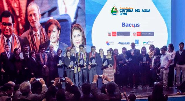 ANA distingue ganadores Premio Nacional Cultura Agua 2016