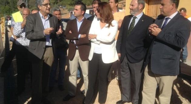 Federico Ramos en una visita a la presa de Siles