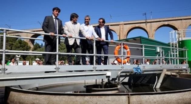 Carles Puigdemont inaugura depuradora 500 Plan Saneamiento Cataluña