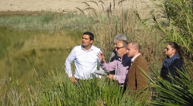 obras recalce y refuerzo aforador río Aguas evitarán posibles inundaciones