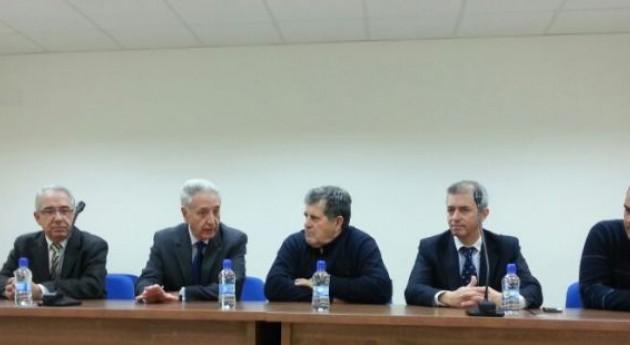 Modesto Lobón se reúne Comunidad Regantes Civán, Caspe
