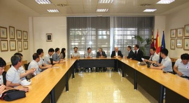 delegación coreana visita Murcia conocer tecnología y sistemas riego empleados explotaciones agrarias