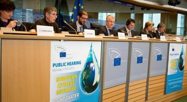 Eurocámara respalda iniciativa Right2Water y critica que Comisión no haya cumplido