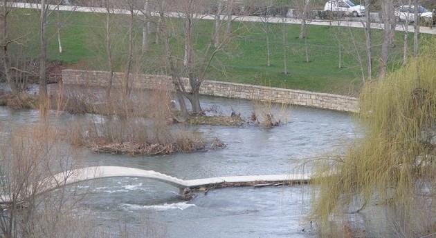 Río Arga en Pamplona (Wikipedia/CC).