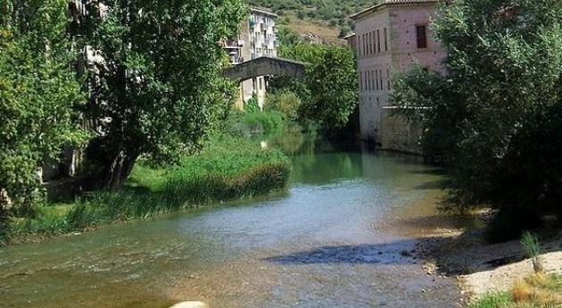 El Ega a su paso por Estella (Wikipedia/CC).