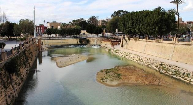 Río Segura a su paso por Murcia
