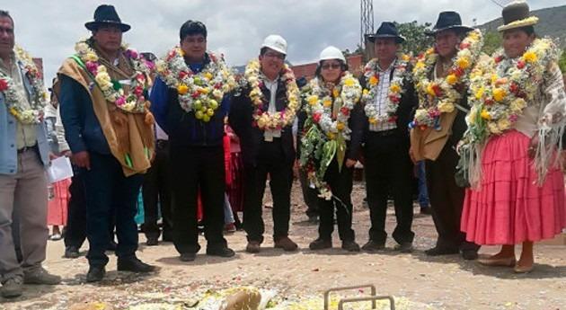 población Mecapaca Bolivia ya cuenta saneamiento y PTAR