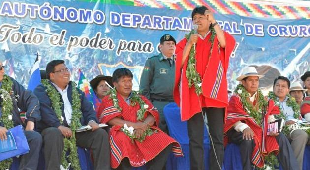 Gobierno Bolivia entrega sistema riego tres comunidades agropecuarias Choro