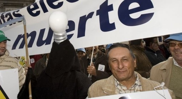 Miles regantes toda España plantan cara Industria movilizaciones tarifazo