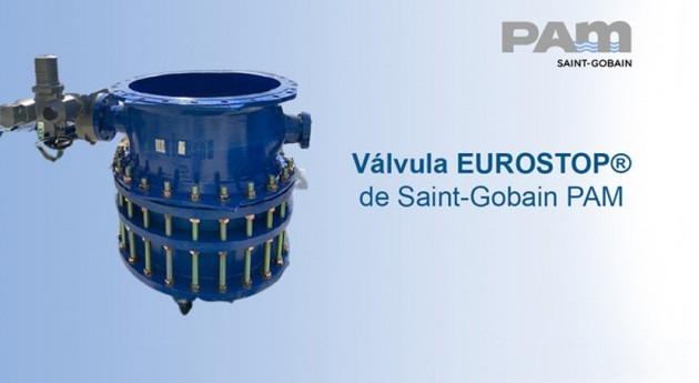 Saint-Gobain PAM emplea válvulas EUROSTOP® rehabilitación canal riego