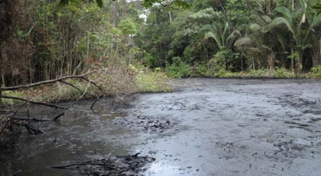 vertido petróleo afecta al río Aribi Venezuela
