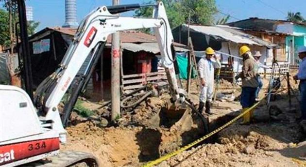 Villa Hermosa avanza construcción sistemas agua y saneamiento
