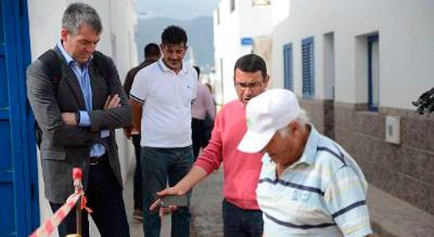 Gobierno canario visita obras futura EDAR y sistema saneamiento Graciosa