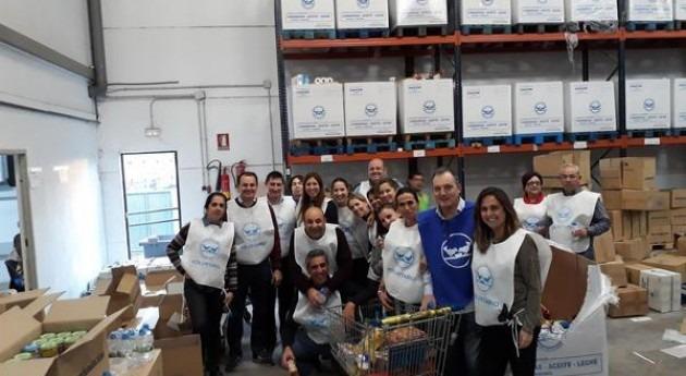 Hidralia y empresas participadas donan más 1.500 kilos comestibles al Banco Alimentos