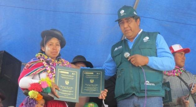 ANA entrega licencias uso agua fines agrarios más tres mil agricultores Puno