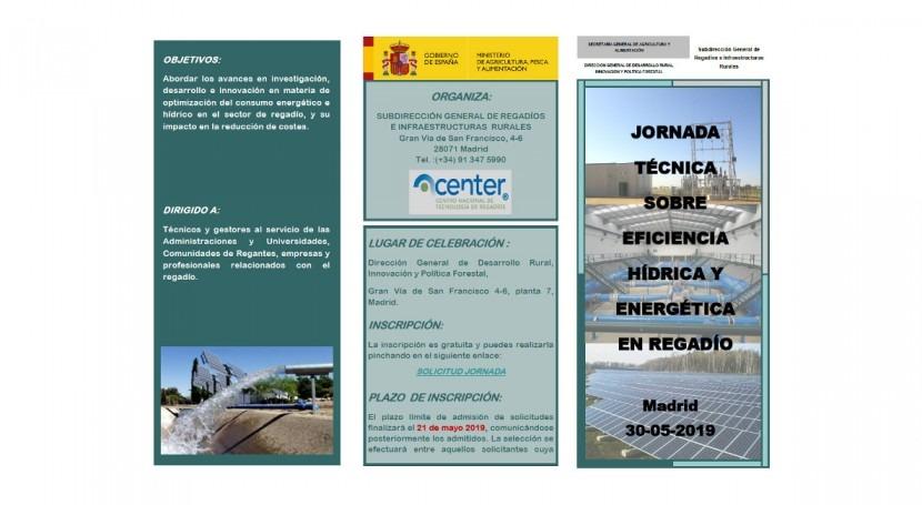 Participamos jornada eficiencia hídrica y energética regadío