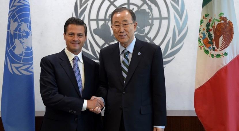 ONU anuncia Davos Panel Alto Nivel Agua México Presidencia