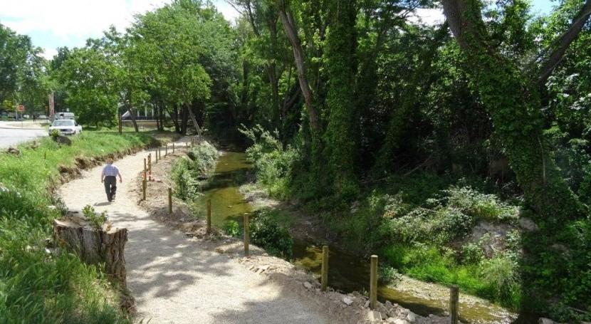 Confederación Ebro ha finalizado limpieza cauce urbano río Isuela Huesca