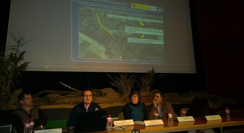 CHE asiste jornada mejorar conectividad y hábitats río Arga Navarra