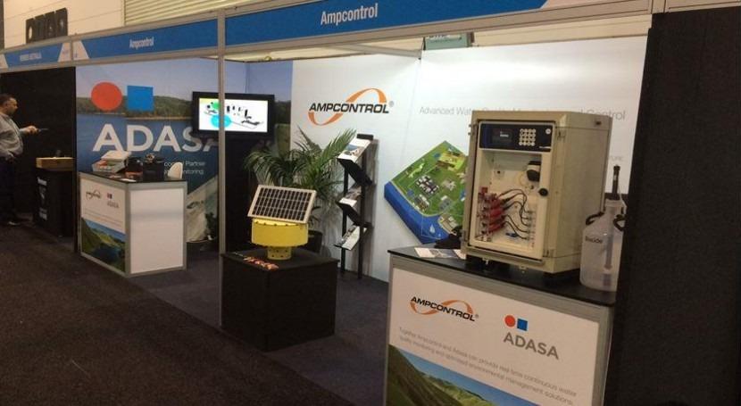 equipos monitoreo calidad aguas Adasa, presentes Ozwater'16, Melburne