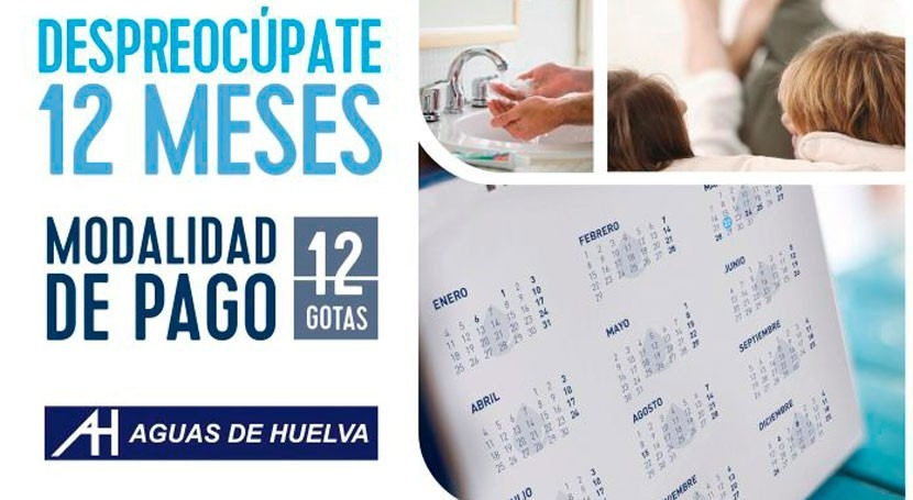 """Aguas Huelva se une al lanzamiento nueva modalidad pago """"12 Gotas"""""""