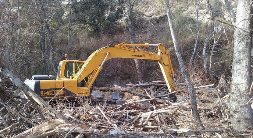 Mejorada capacidad desagüe río Noguera Pallaresa Pobla Segur, Lleida