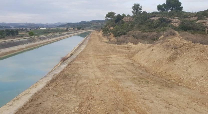 CHE licita mejora camino servicio Canal Bardenas y acequias principales
