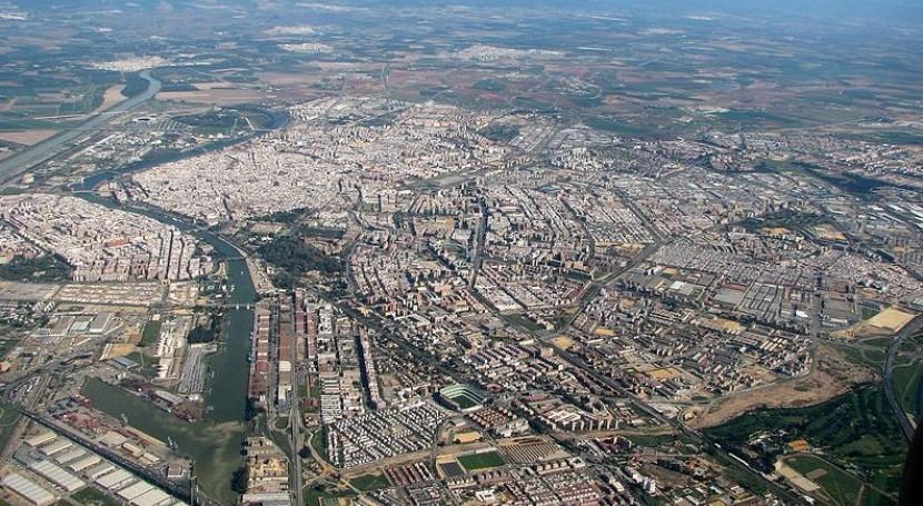 Vista aérea de Sevilla