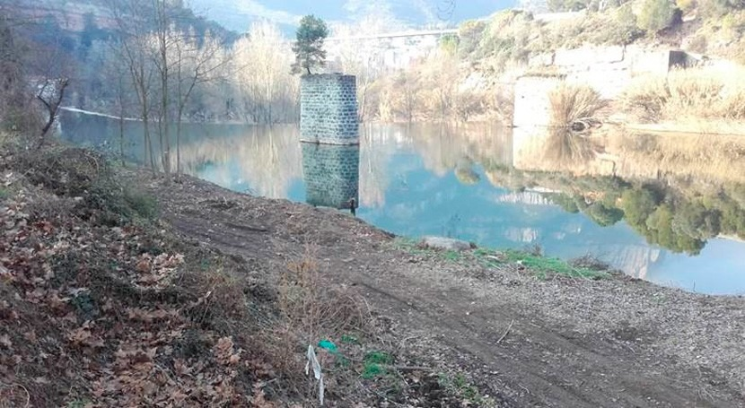 ACA restaura cauce río Llobregat paso Monistrol Montserrat