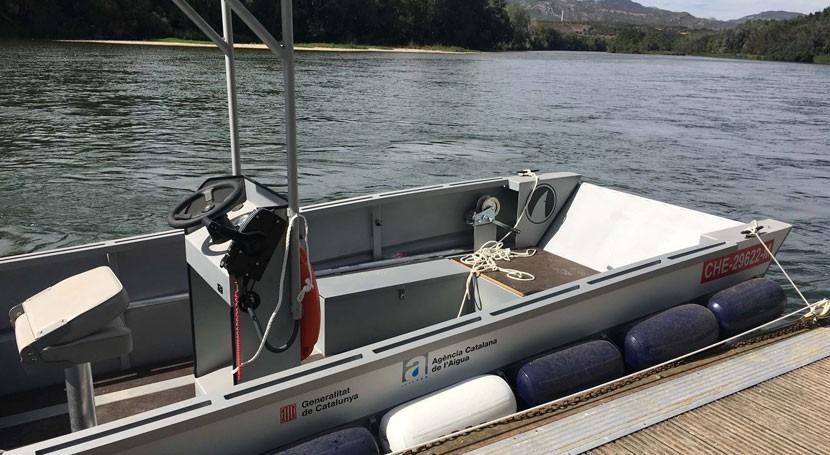 ACA estrena embarcación vigilar e inspeccionar tramo final Ebro