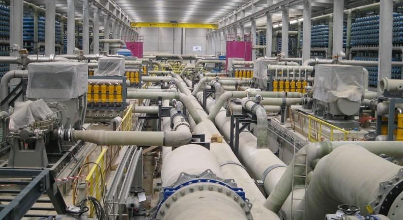 Interior de la desalinizadora Llobregat.