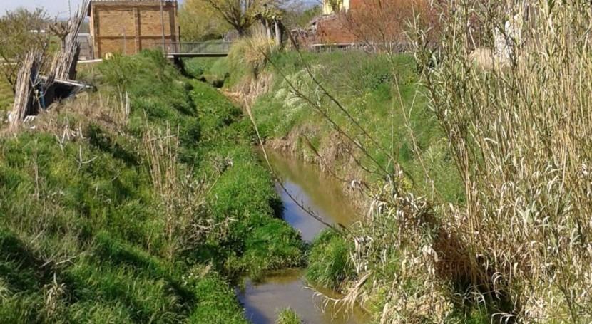 ACA mejora estado cauces y dos arroyos Riudellots Selva