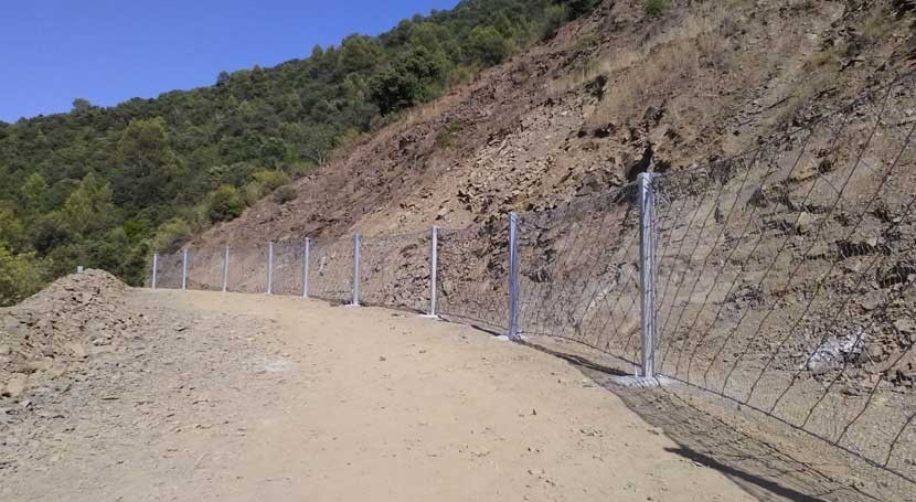 ACA finaliza trabajos construir barrera protección toma Siurana