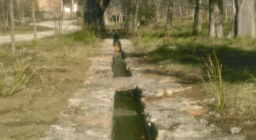 Se rehabilita acequia y balsa Santa Bàrbara Parc Natural Serra Mariola