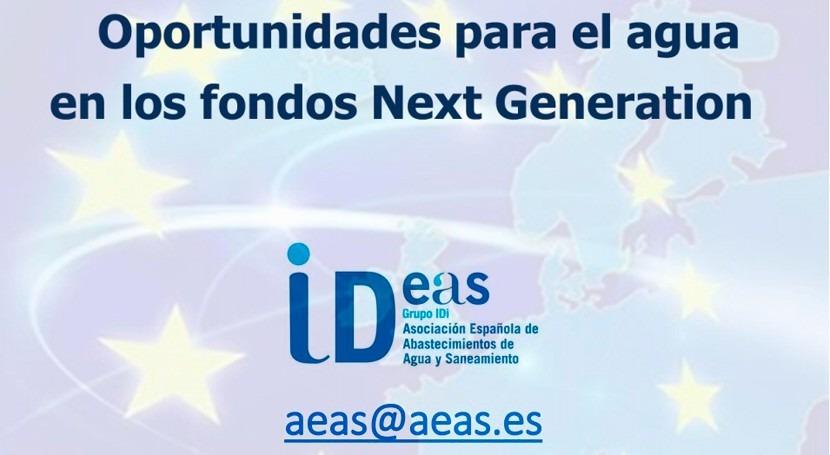 "AEAS celebra sesión online ""Oportunidades agua fondos Next Generation"""